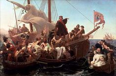 'Cristóbal Colón a bordo de la Santa María en 1492' (1855) óleo de Emanuel Leutze. (Public Domain)