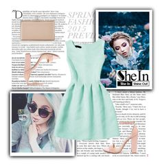 """""""SheIn"""" by lejlasaric ❤ liked on Polyvore featuring Balmain, Steve Madden and Judith Leiber"""