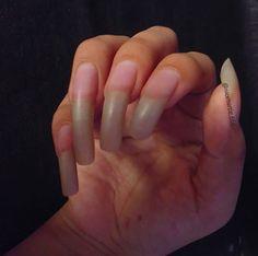Long Natural Nails, Long Nails, Pretty Nails, Hands, Beautiful, Beauty, Natural Nails, Cute Nails, Makeup