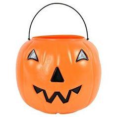 Halloween Pumpkin Pail Orange