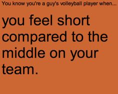 you know youre a volleyball player when