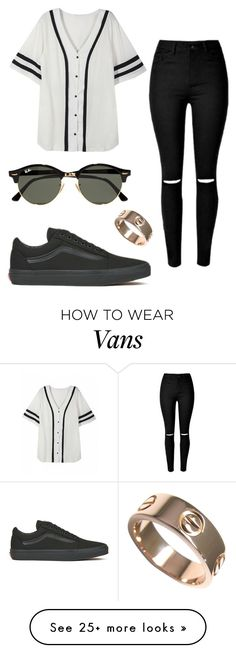 #No name by eemaj on Polyvore featuring Vans, Ray-Ban and Cartier
