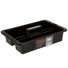 Portable Plastic Tool Caddy In Black