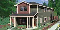 Duplex house plans narrow lot duplex design easily for Stacked duplex floor plans