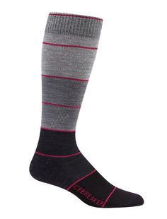 In the sport of daily life, wearing a pair of the women's Lifestyle+ Over the Calf Compression socks will improve your performance. These socks fit tigher than your casual day to day sock in order to give you enhanced blood flow for running or other high endurance activities. Breathable support helps to make this durable sock the one you'll reach for before jumping into your daily grind.