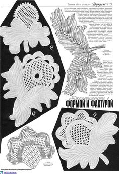 Irish crochet - link has 4 motif/graph pages. Irish Crochet Charts, Irish Crochet Patterns, Crotchet Patterns, Crochet Diagram, Freeform Crochet, Crochet Motif, Crochet Designs, Crochet Doilies, Crochet Flowers