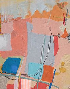 Karin Olah, original fine art paintings with fabric and mixed media   Abstract