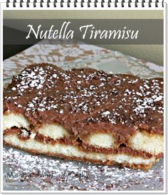 Today I made Nutella Tiramisu, it's so easy! Since I'm always tweaking my recipes to make them fit into our family's dietary needs I like making Tiramisu - it's a recipe that can be 'tweaked' to your liking. #nutella #tiramisu #dessert  @wineladyjo