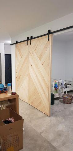Double Barn Door Hardware Kit Overlapping Sliding Barn Doors
