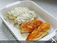 Filet vom Huhn mit Walnuss - Knoblauch - Kruste