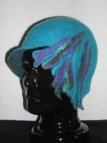 Felt Hat, Wool Felt, How To Make Decorations, Fancy Hats, Nuno Felting, Hat Making, Beanie, Dreadlocks, Ballet