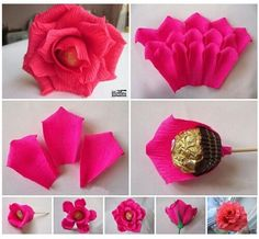 The Effective Pictures We Offer You About fall Paper Flowers A quality picture can tell you many things. You can find the most beautiful pictures that can be presented to you about Paper Flowers cricu Candy Flowers, Tissue Paper Flowers, Diy Flowers, Candy Crafts, Diy Crafts For Gifts, Paper Crafts, Bouquet Cadeau, Gift Bouquet, Candy Bouquet