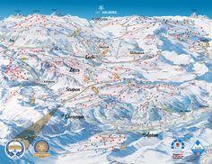 Panoramakarte St. Anton am Arlberg: Pistenplan St. Anton am Arlberg - Ski St. Anton am Arlberg