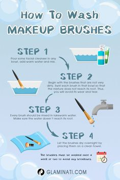 How to Clean Your Makeup Brushes Weekly ★You can find Clean makeup brushes and more on our website.How to Clean Your Makeup Brushes Weekly ★ Deep Cleaning Tips, House Cleaning Tips, Cleaning Hacks, Cleaning Brushes, Brush Cleaning, Make Up Tutorials, Sewing Tutorials, Make Up Looks, Pretty Little Liars