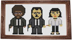 Pulp fiction cross stitch  |    Mia : Do not you hate that? Vincent : What? Mia : Uncomfortable silences. Why do we feel it's Necessary to yak about bullshit in order to be comfortable? Vincent : I do not know. That's a good question. Mia : That's When You know you've found somebody special. When you can just shut the fuck up for a minute and comfortably enjoy the silence. And do cross stitch.