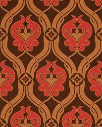 Tapet 61138: Cordoba Brown/Pink från Zoffany - Tapetorama