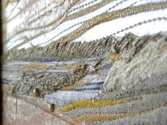 Golden Beach  Textile Art  beach wall decor by PrivateDock on Etsy, $135.00