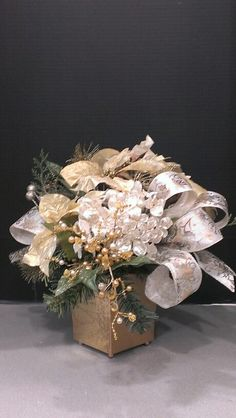 Gold and Silver Christmas tabletop...Robin Evans