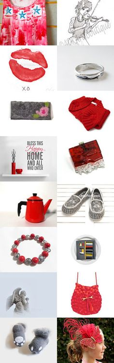 Gift ideas in Red by Nancy Ottati from RevesCreazioni on Etsy--Pinned with TreasuryPin.com
