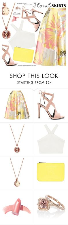 """The Perfect Summer Floral Skirt"" by totwoo ❤ liked on Polyvore featuring Rochas, Kendall + Kylie, BCBGMAXAZRIA, Kenzo and Elizabeth Arden"