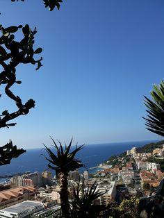 View from upon the Botanic garden over Monaco (own photo Veerle Vanspauwen)