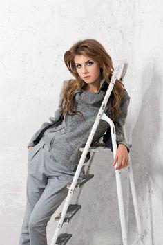 Wełniany asymetryczny żakiet/kurtka. Woolen asymetric jacket. http://www.bee.com.pl/e-sklep/