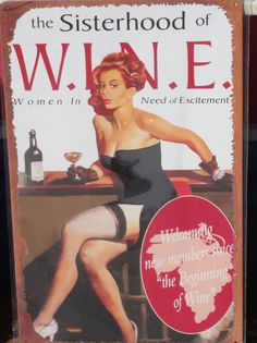 If you want to join the sisterhood of wine, repin or like this...hail to all of us who love our wine!!