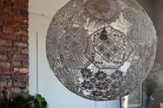 Lace and doilies into lamps