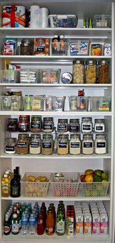 56 Ideas For Kitchen Storage Diy Organisation Diy Kitchen Storage, Pantry Storage, Kitchen Pantry, Diy Storage, Storage Ideas, Pantry Diy, Pantry Organisation, Organization Hacks, Organized Pantry