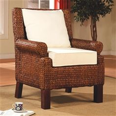 Banana Leaf Woven Accent Chair by Coaster - 900281