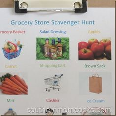 Grocery Store Scavenger Hunt for #Kids