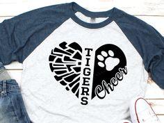 SVG cuts for Vinyl HTV and Scrapbooking by SummerSweetSvgs on Etsy Baseball T Shirt Designs, Baseball Mom Shirts, Cheer Shirts, Tigers Baseball, Jaguars Shirt, Cricut, Viking Shirt, Tiger Shirt, Silhouette Studio Designer Edition