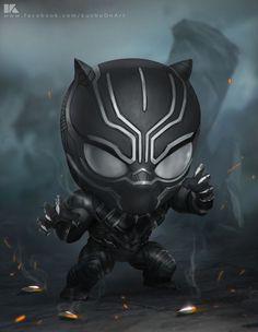 HeroChan — Chibi Black Panther Created by Surasak Jaipuk Ms Marvel, Chibi Marvel, Mundo Marvel, Marvel Dc Comics, Marvel Heroes, Marvel Characters, Marvel Avengers, Marvel Movies, Avengers Series