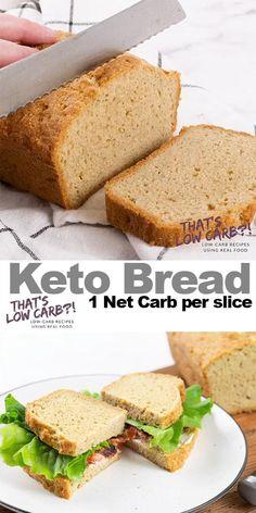 Easy Keto Bread Recipe, Best Keto Bread, Bread Diet, 90 Second Keto Bread, Lowest Carb Bread Recipe, Real Food Recipes, Diet Recipes, Healthy Recipes, Smoothie Recipes