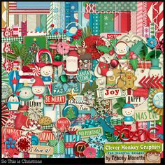 So This is Christmas by Clever Monkey Graphics - Digital scrapbooking kits available through Oscraps, GingerScraps, or MyMemories