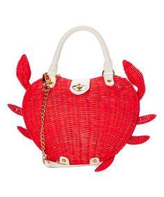 Betsey Johnson® Coral Crab Calloway Crossbody Bag | zulily