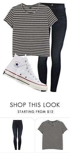 """""""Untitled #1130"""" by abbeycadabbey ❤ liked on Polyvore featuring Mother, Monki and Converse"""