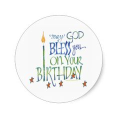 Shop Birthday Blessings Sticker created by ZazBear. Personalize it with photos & text or purchase as is! Happy Birthday Clip Art, Happy Birthday Greetings Friends, Birthday Prayer, Birthday Quotes For Me, Birthday Clips, Happy Birthday Video, Birthday Poems, Birthday Blessings, Messages