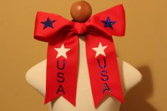 USA Cheer Bows by Tutusandtoothpillows on Etsy, $7.00