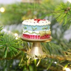 Buy Christmas Cake Decoration in Blue from lisaangel.co.uk :: Lisa Angel Jewellery and Gifts