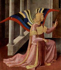L'Annonciation, Fra Angelico  LAS ALAS PODRIAN SER USADAS PARA LOS COLORES DE UNA COMPAÑIA AEREA (AIR CAELSIUS)