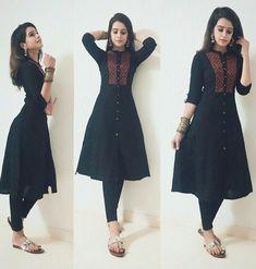 I wpuld like to look good like this in a beautiful dress thank you om sai ram thank you Kurti Sleeves Design, Kurta Neck Design, Churidar Designs, Kurta Designs Women, Indian Attire, Indian Outfits, Kalamkari Dresses, Dress Indian Style, Indian Designer Suits