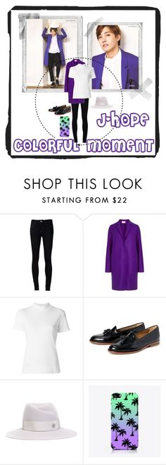 """""""~J-Hope :: Colorful Moment~"""" by taeangel ❤ liked on Polyvore featuring Polaroid, Ström, Harris Wharf London, Jacquemus, H by Hudson, Maison Michel, kpop, bts, bangtan and Jhope"""