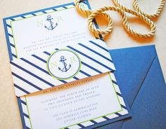 Nautical Anchor Wedding Invitation,