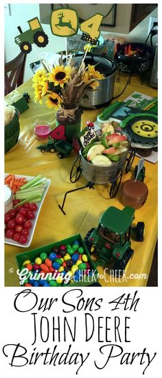 Our Son's 4th Birthday Party was a John Deere Birthday Party - We spent a lot of time looking for Tractor Party Ideas and I love what we came up with!