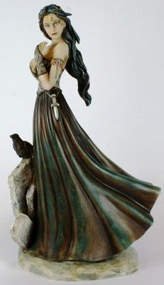 I have this Morrigan Goddess Figurine by Jessica Galbreth sitting on my Altar....love it