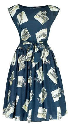 Laura Ashley postcard dress from 2012. Keeping my eye out for fabric to make something similar - BHL Anna bodice and a gathered skirt would do for the shape