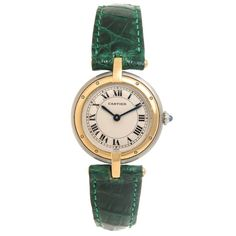 Cartier Ladies yellow Gold Stainless Steel Panther Ronde Quartz Wristwatch