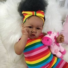 Cheap Reborn Dolls, Reborn Baby Dolls, Baby Girl Birthday, Birthday Gifts For Girls, Sunny Doll, African American Reborn Babies, Reborn Toddler Girl, Barbie Coloring Pages, Black Baby Dolls