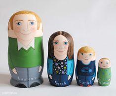 Personalised family russian matryoshka nesting dolls inspiration